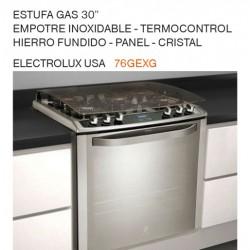 """ESTUFA GAS 30"""" EMPOTRE INOXIDABLE 76GEXG"""
