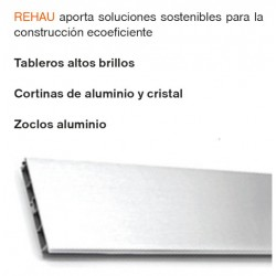 REHAU TABLEROS CORTINAS ZOCLOS ALUMINIO