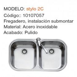 FREGADERO INSTALACION STYLO 2C