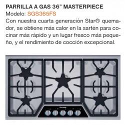 "PARRILLA A GAS 36"" SGS365FS"