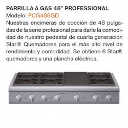 "PARRILLA A GAS 48"" PCG486GD"