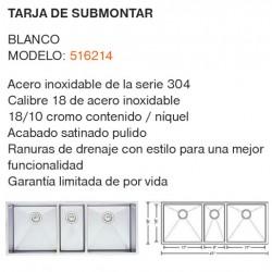 TARJA DE SUBMONTAR MODELO: 516214