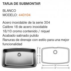 TARJA DE SUBMONTAR MODELO: 440104