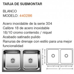 TARJA SUBMONTAR MODELO: 440286